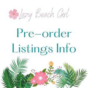 Pre-Order Information